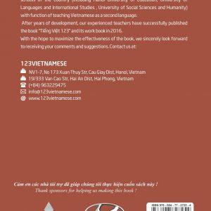 Bìa sau sách bài tập Tiếng Việt 123