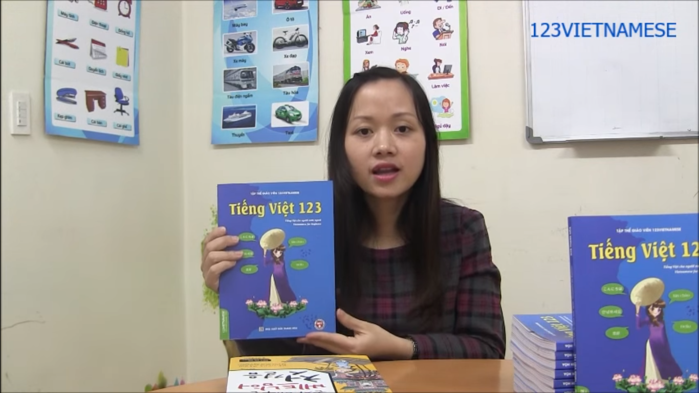 "Our book ""Tieng Viet 123"""
